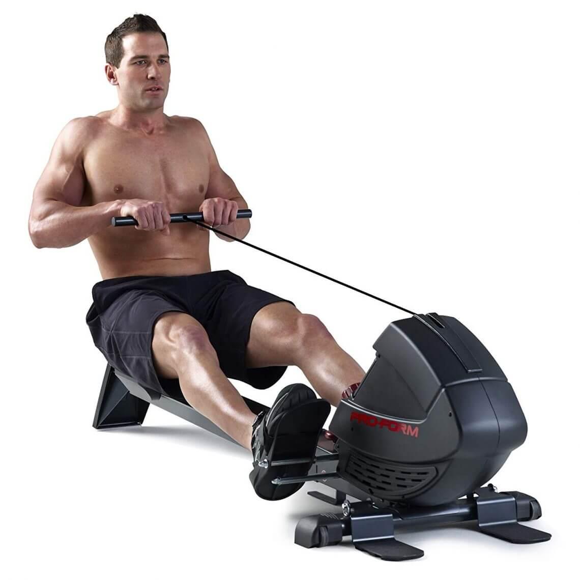 muscles travaillés avec le rameur